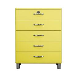 Tenzo Ladenkast 'Malibu' met 5 laden, kleur Geel