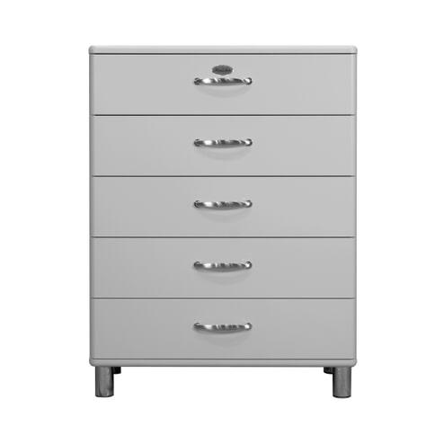 Tenzo Ladenkast 'Malibu' met 5 laden, kleur Zilver