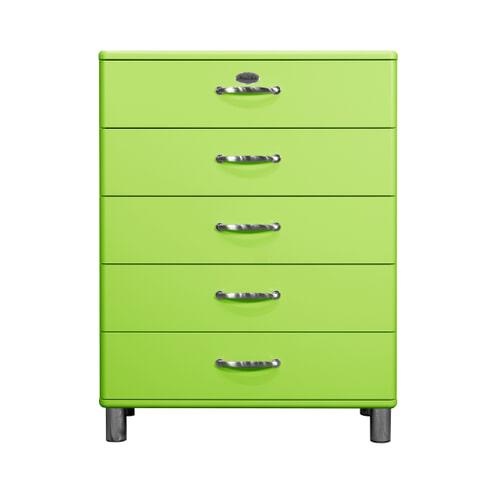 Tenzo Ladenkast 'Malibu' met 5 laden, kleur Groen