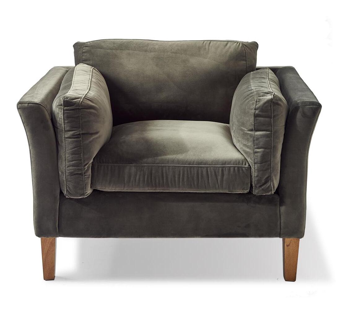 Remarkable Riviera Maison Loveseat Forsyth Velvet Kleur Slate Grey Machost Co Dining Chair Design Ideas Machostcouk