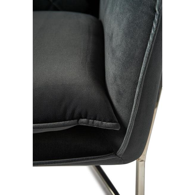 Rivièra Maison Fauteuil 'Walker Park' Velvet, kleur Midnight Grey