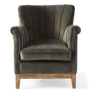 Rivièra Maison Fauteuil 'East Village' Velvet, kleur Slate Grey