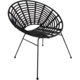 YardLife Loungestoel 'Vero' kleur zwart