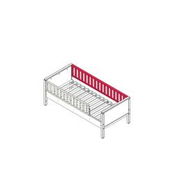 Bopita Achterzijde recht platte spijl voor bed 'Nordic' kleur wit