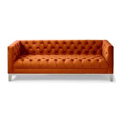 Rivièra Maison 3,5-zits Bank 'Ocean Park' Velvet, kleur Pumpkin