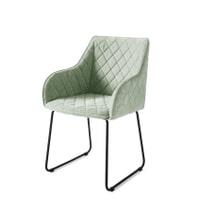 Rivièra Maison Eetkamerstoel 'Frisco Drive' Velvet, kleur Springtime Green