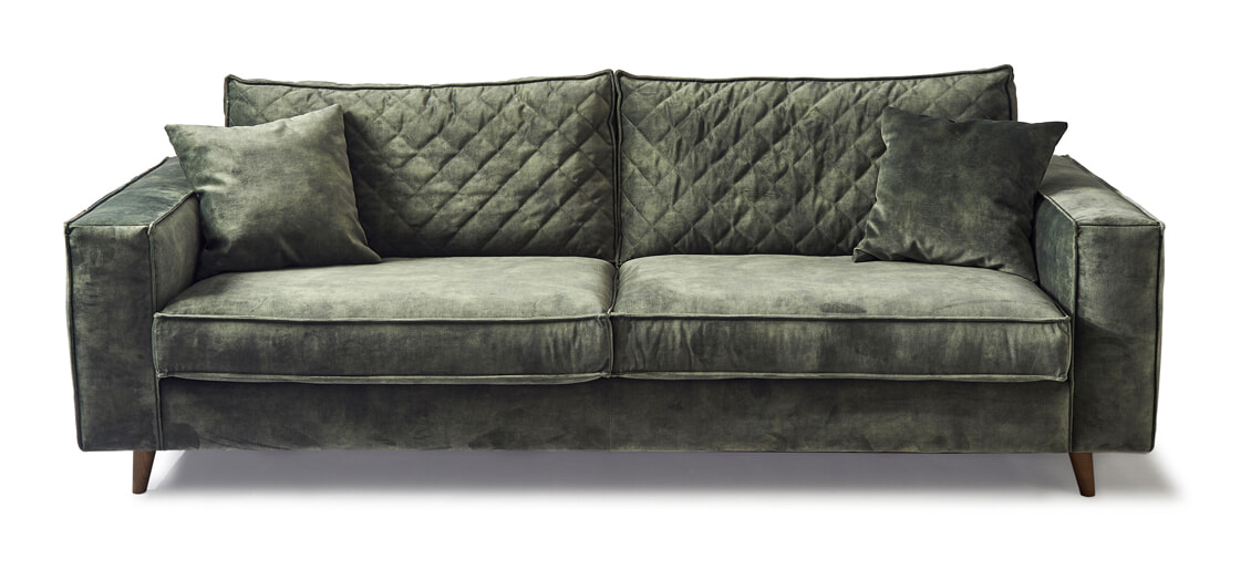 Rivièra Maison 3,5-zits Bank 'Kendall' Velvet, kleur Ivy