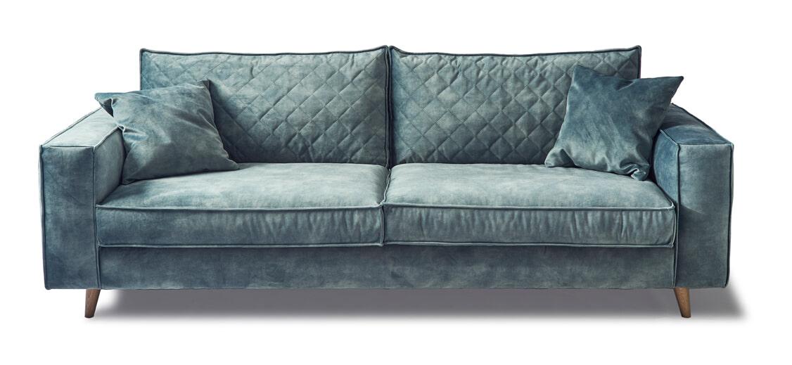 Rivièra Maison 3,5-zits Bank 'Kendall' Velvet, kleur Mineral Blue