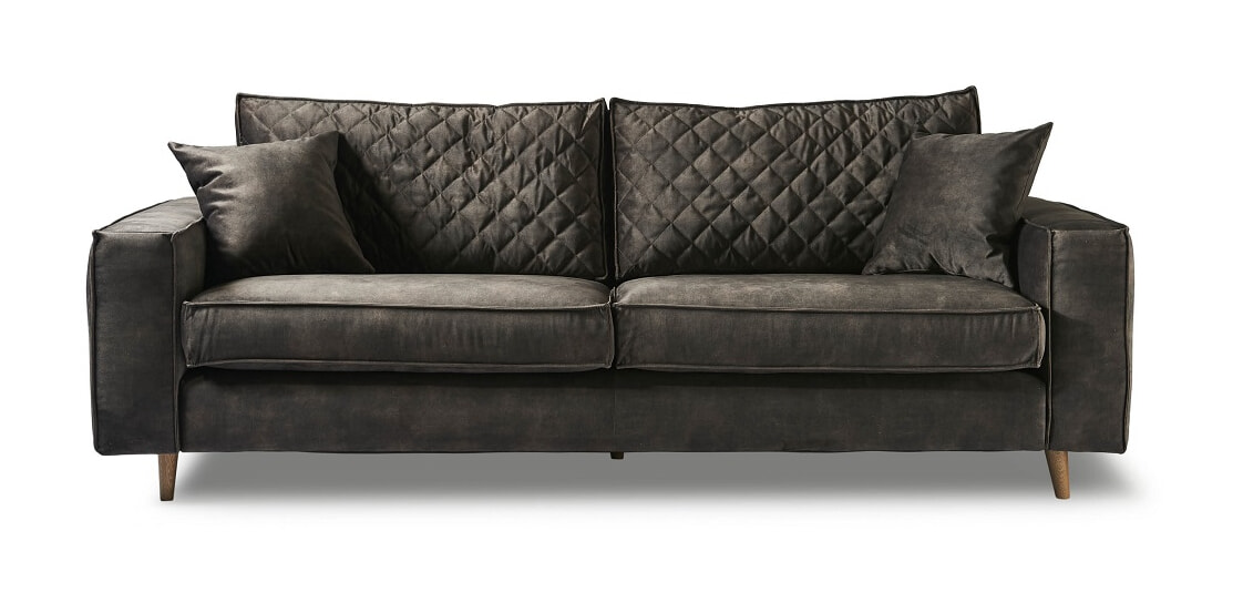 Rivièra Maison 3,5-zits Bank 'Kendall' Velvet, kleur Grimaldi Grey