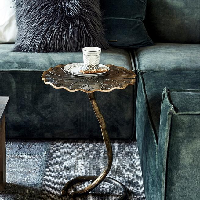 Rivièra Maison Modulaire Bank 'The Jagger' Corner, Velvet, kleur Golden Beige
