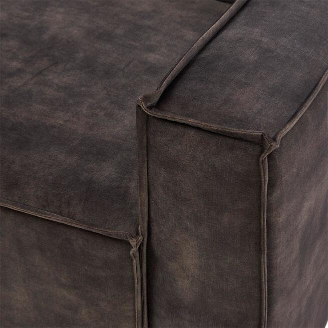 Rivièra Maison Modulaire Bank 'The Jagger' Corner Arm Rechts, Velvet, kleur Grimaldi Grey