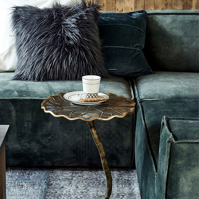 Rivièra Maison Modulaire Bank 'The Jagger' Center 125cm, Velvet, kleur Golden Beige