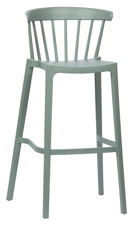 WOOOD Barkruk 'Bliss' kleur Jadegroen (zithoogte 77cm)