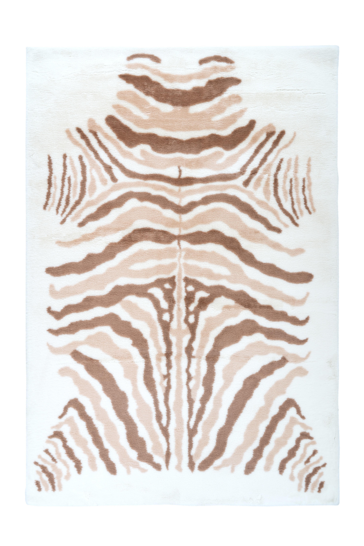Kayoom Vloerkleed 'Rabbit Animal' kleur ivoor / bruin, 120 x 160cm