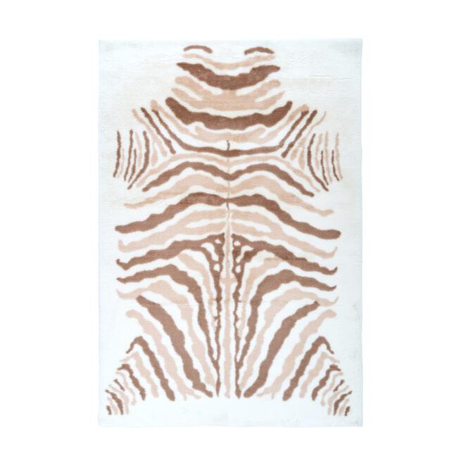 Kayoom Vloerkleed 'Rabbit Animal' kleur ivoor / bruin