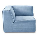 Rivièra Maison Modulaire Bank 'The Jagger' Corner, Cotton, kleur Ice Blue