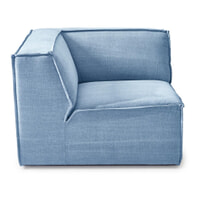 Rivièra Maison Modulaire Bank 'The Jagger' Corner, Cotton, kleur Ice Blue