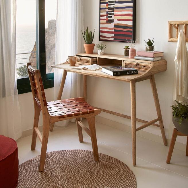 Kave Home Bureau 'Nalu' 110 x 60cm, kleur Naturel