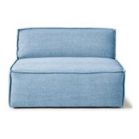 Rivièra Maison Modulaire Bank 'The Jagger' Center 125cm, Cotton, kleur Ice Blue
