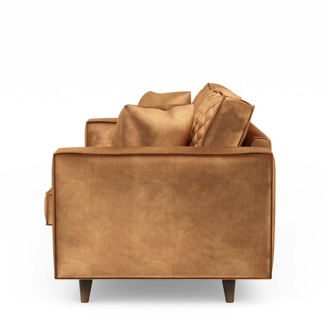 Rivièra Maison 2,5-zits Bank 'Kendall' Velvet, kleur Cognac