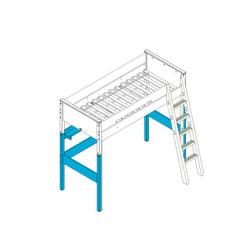 Bopita Supportset voor hoogslaper XL 'Combiflex' kleur wit
