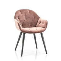 Eleonora Eetkamerstoel 'Joy' Velvet, kleur roze