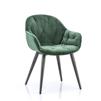 Eleonora Eetkamerstoel 'Joy' Velvet, kleur groen