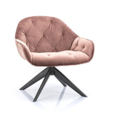 Eleonora Fauteuil 'Joy' Velvet, kleur roze