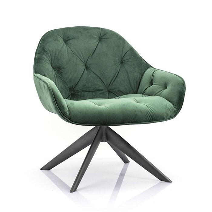 Eleonora Fauteuil 'Joy' Velvet, Kleur groen