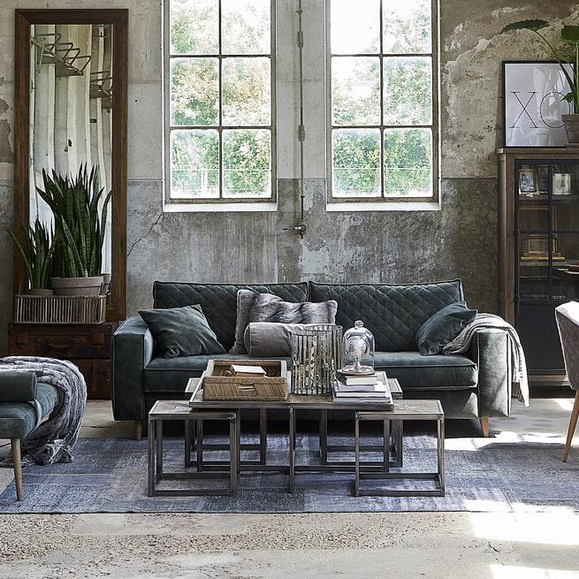 Rivièra Maison 2,5-zits Bank 'Kendall' Cotton, kleur Stone