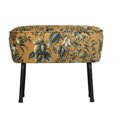 BePureHome Hocker 'Vogue Poppy' Velvet