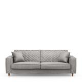 Rivièra Maison 3,5-zits Bank 'Kendall' Velvet, kleur Platinum