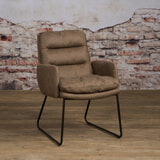 Tower Living Fauteuil 'Toro', kleur taupe
