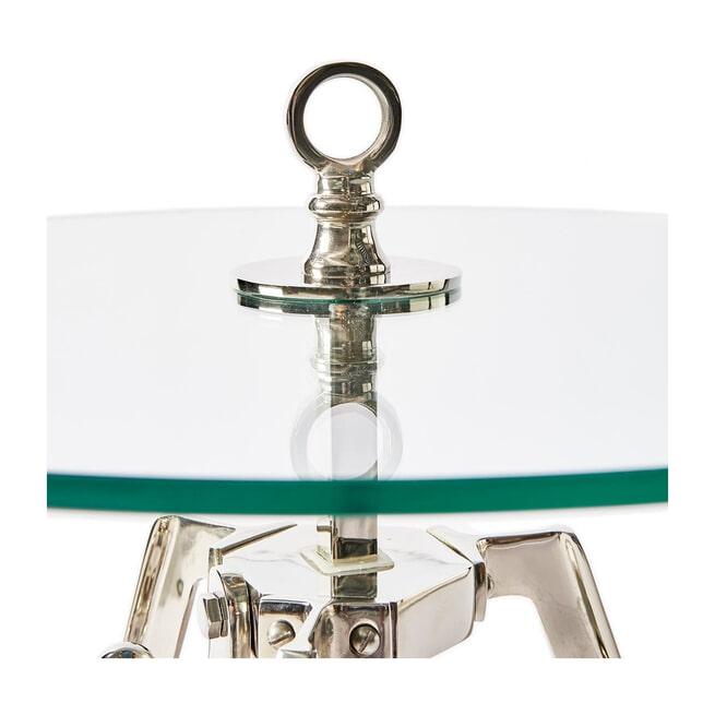 Rivièra Maison Bijzettafel 'Bricklane' 46cm, kleur Silver