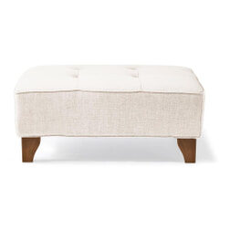 Rivièra Maison Hocker 'Radziwill' Linen, kleur Pristine White