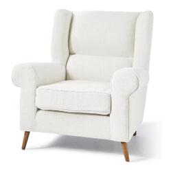 Rivièra Maison Fauteuil 'Delano' Linen, kleur Pristine White