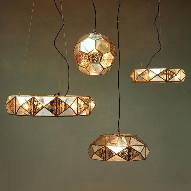 Rivièra Maison Hanglamp 'Copenhagen L' 75cm, kleur Gold