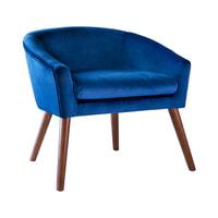 Artistiq Fauteuil 'Rosa' Velvet, kleur Blauw