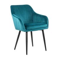 Artistiq Eetkamerstoel 'Juna' Velvet, kleur Turquoise