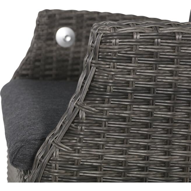YardLife Verstelbare Tuinstoel 'Soho Coal' comfort