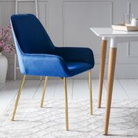 Artistiq Eetkamerstoel 'Ashlee' Velvet, kleur Blauw