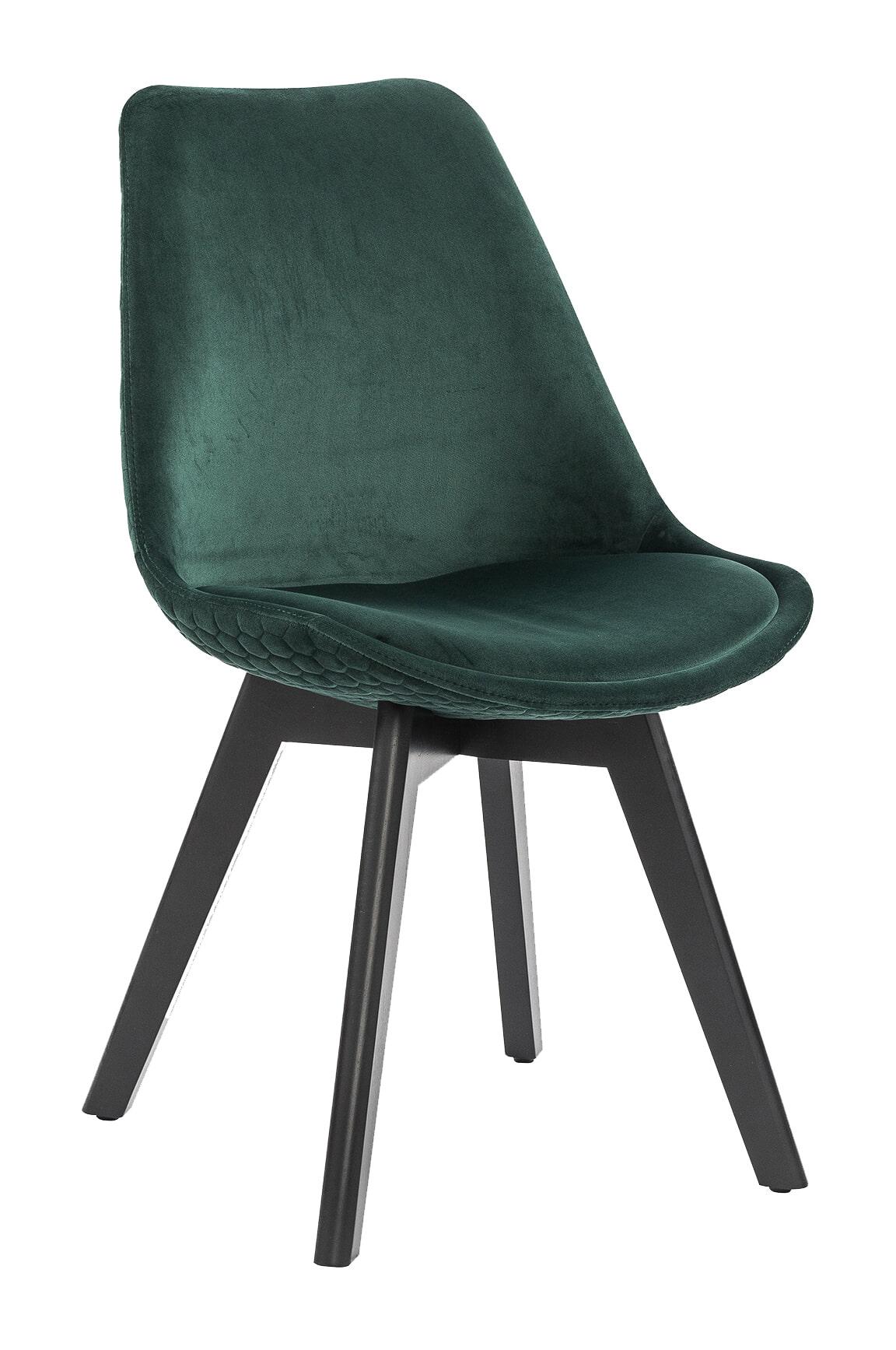 Artistiq Eetkamerstoel 'Flora' Velvet, kleur Groen