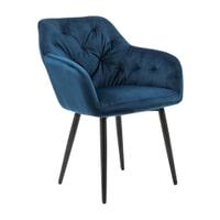 Artistiq Eetkamerstoel 'Laila' Velvet, kleur Blauw