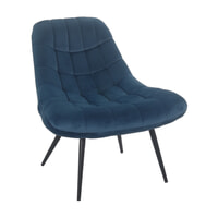 Artistiq Fauteuil 'Aris' Velvet, kleur Blauw