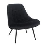 Artistiq Fauteuil 'Aris' Velvet, kleur Zwart