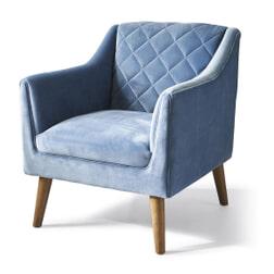 Rivièra Maison Fauteuil 'Contessa' Velvet, kleur Ice Blue