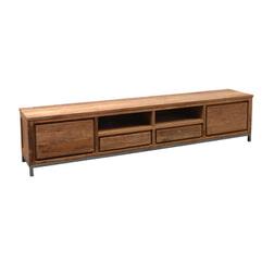 LivingFurn TV-meubel 'Boston' Teakhout en staal, 250cm
