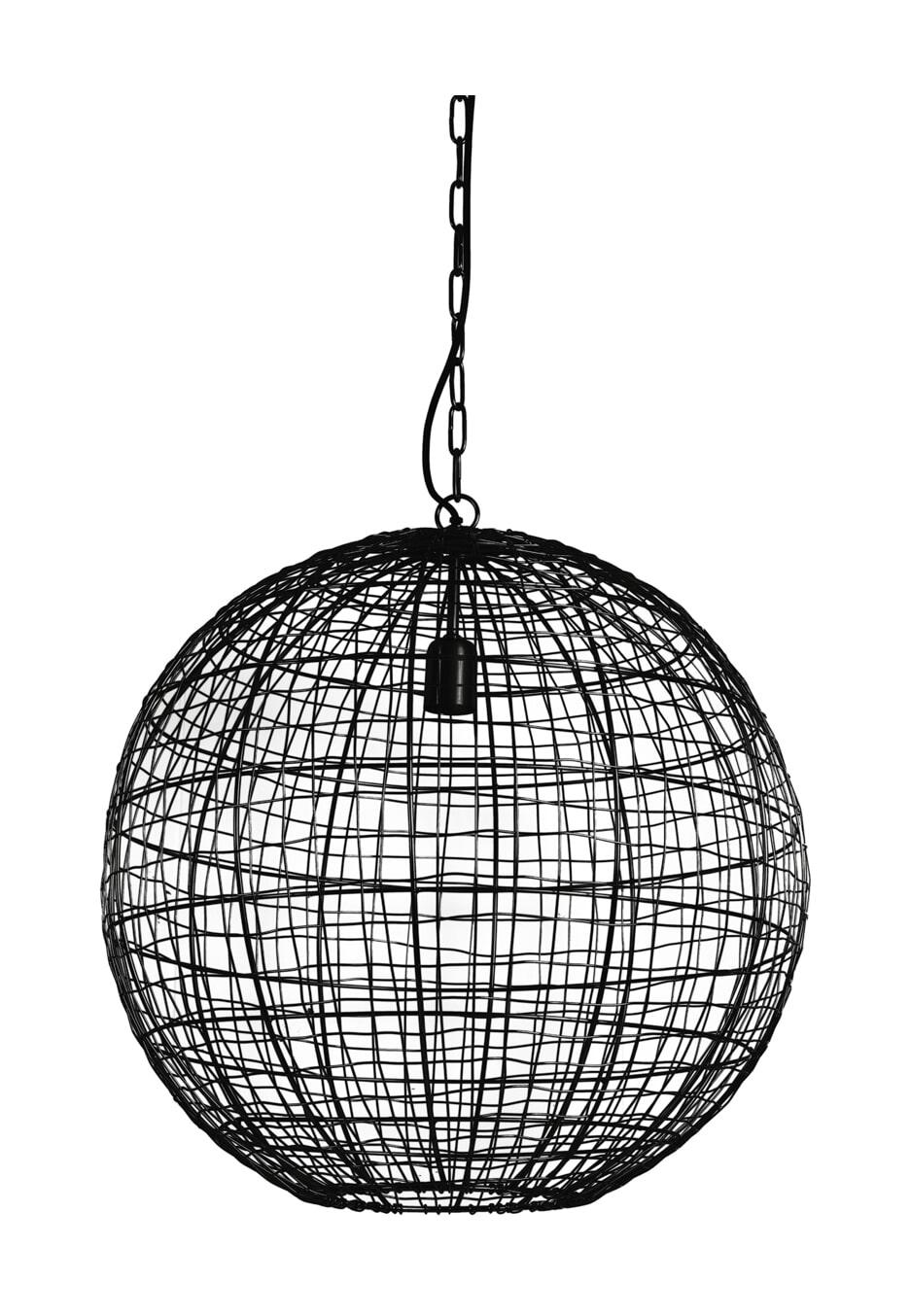 Light & Living Hanglamp 'Mirana' Ø55cm, kleur Mat Zwart