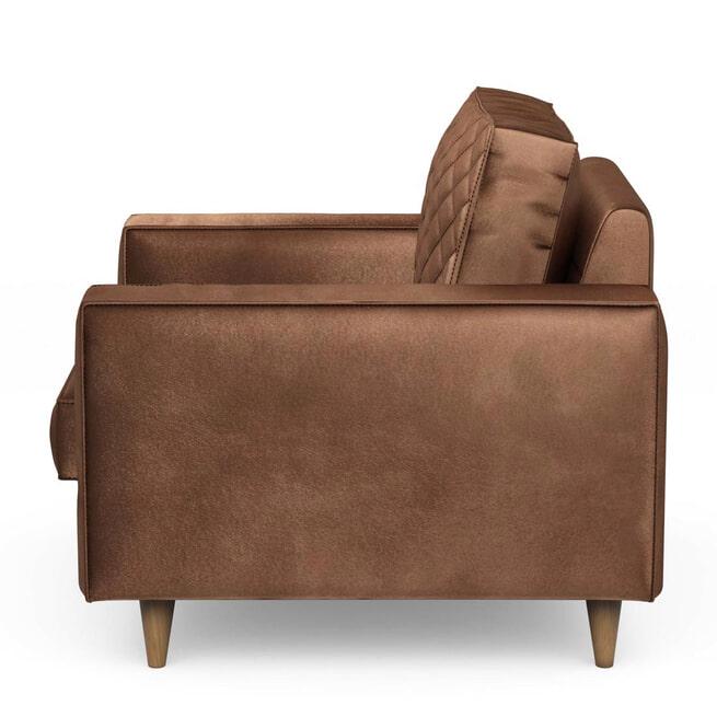 Rivièra Maison Fauteuil 'Kendall' Velvet, kleur Chocolate