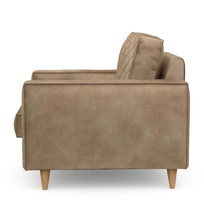 Rivièra Maison Fauteuil 'Kendall' Velvet, kleur Golden Beige